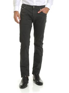 Jacob Cohën - Micro checked trousers in anthracite gray