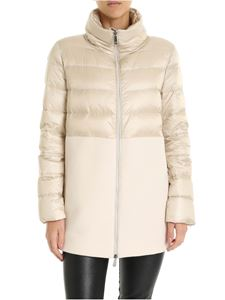 Peserico - Quilted effect down jacket in beige