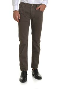 Jacob Cohën - Mini checked trousers in brown