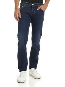 Jacob Cohën - Blue 5-pocket jeans with embroidery J