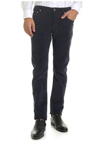 Jacob Cohën - 5-pocket trousers in blue corduroy