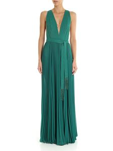 Elisabetta Franchi - Green dress with jeweled beads