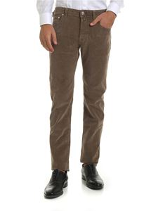 Jacob Cohën - 5-pocket trousers in brown corduroy