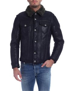 Jacob Cohën - Green collar jacket in black