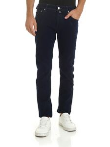 Jacob Cohën - Blue trousers with calf hair label