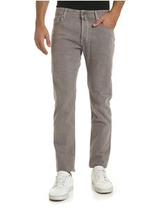 Jacob Cohën - Trousers in gray with gray logo label