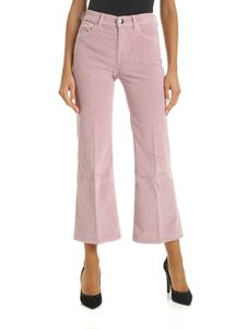 Jacob Cohën - Pantalone crop Frida in corduroy rosa