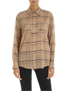 Ballantyne - Light brown shirt with logo lettering