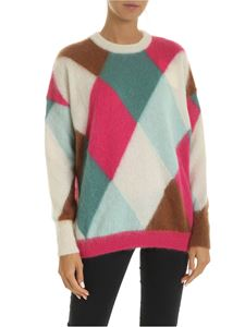 Ballantyne - Diamond pattern crew-neck pullover