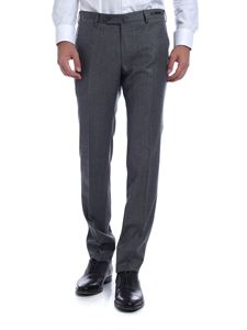 PT01 - Multicolor houndstooth trousers in gray