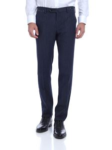 PT01 - Virgin wool and cotton trousers in blue