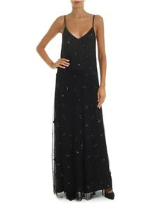 Parosh - Long tulle dress with black stars