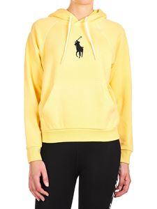 POLO Ralph Lauren - Hoodie in yellow with logo embroidery