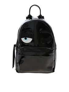Chiara Ferragni - Flirting backpack patent effect in black