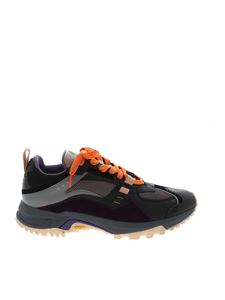 Marcelo Burlon - Cross Runner sneakers in grey black and purple