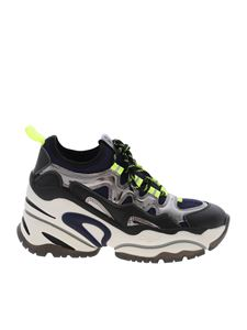 Ash - Birs sneakers blue black and neon yellow