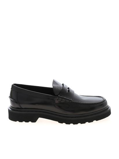 Tod's - Black loafers with penny bar