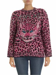 Alberta Ferretti - Animal print pullover in purple