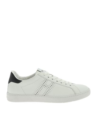 Hogan Fall Winter 19/20 h327 sneakers in white and blue ...