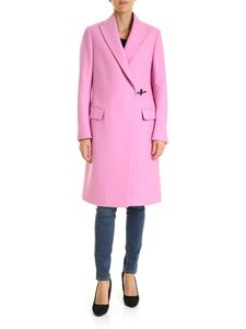 Fay - Pink double-breasted coat with Fay hook