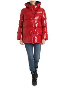 Fay - Red down jacket with 3 Fay hooks