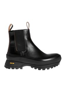 Jil Sander - Vibram box sole ankle boots in black