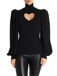 MSGM - Black sweater with puff sleeves