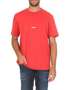 MSGM - MSGM printed t-shirt in red