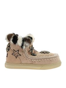 Mou - Eskimo Trainer sneakers in pink shearling