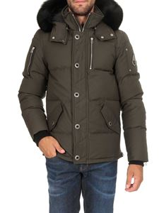 Moose Knuckles - 3Q quilted down jacket in army green