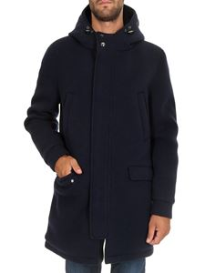 Herno - Resort long padded jacket in blue
