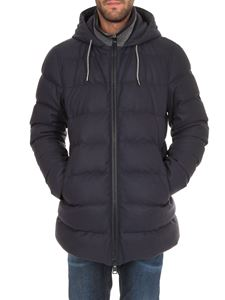 Herno - Blue wool blend down jacket