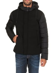 Herno - Jacket in black with padded sleeves