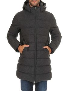 Herno Laminar - Quilted down jacket in gray cotton