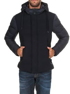 Herno - Jacket in blue with padded sleeves
