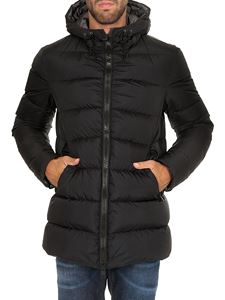 Herno - Hooded down jacket in black