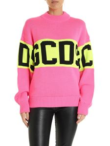 GCDS - Pink pullover with logo embroidery