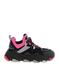 Ash - Energy sneakers in black and neon pink