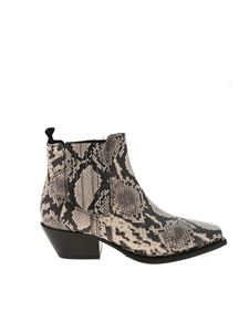 Vic Matiè - Caguas ankle boots in beige and black