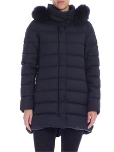 Herno - Black down jacket with tone on tone fur