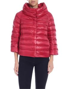 Herno - Iconico Sofia down Jacket in red with logo