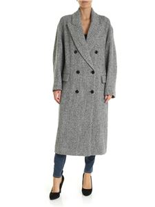 Isabel Marant Étoile - Habra coat in grey and white color