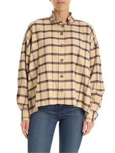 Isabel Marant Étoile - Ilaria shirt in beige and burgundy color