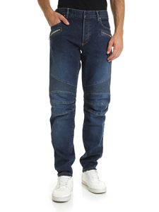 Balmain - Jeans in blue color with logo