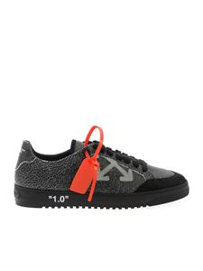 Off-White - Sneakers nere effetto crackle