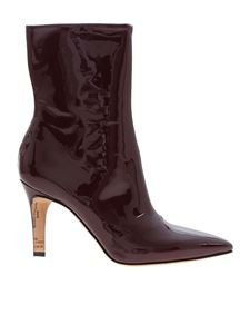 Maison Margiela - Pointed toe ankle boots in wine color