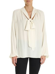 Theory - V-neck blouse in ivory color