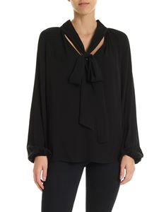 Theory - V-neck blouse in black