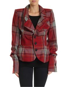 Vivienne Westwood  - Red tartan pattern jacket with shoulder pads