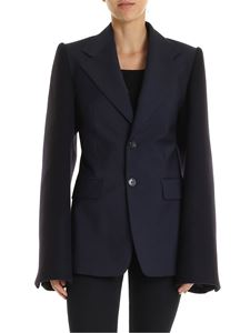 Maison Margiela - Blue single-breasted jacket with wide sleeves